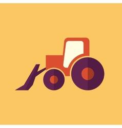 Tractor Transportation Flat Icon vector