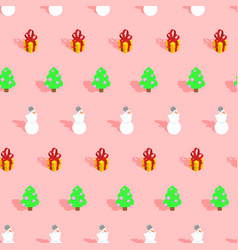 trendy christmas pattern xmas winter decoration vector image