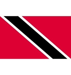 Trinidad and Tobago flag in correct size colors vector