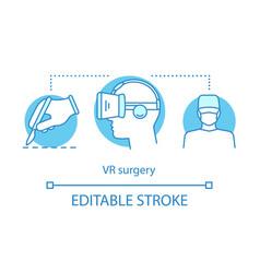 Vr surgery concept icon vector
