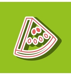 watermelon drawing isolated icon design vector image