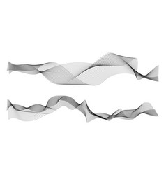 waves abstract graphic line sonic or sound vector image