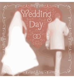 Wedding greeting card vector