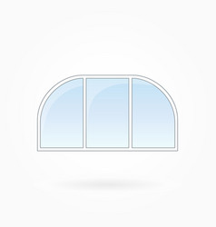 Window frame with two rounded corners eps 10 vector