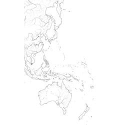 World map pacific ocean west coastline vector