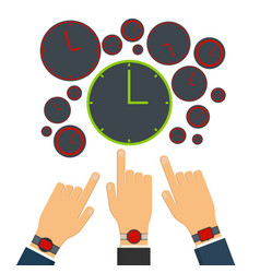 wrong time on red clock and watches vector image