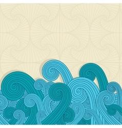 blue waves background vector image