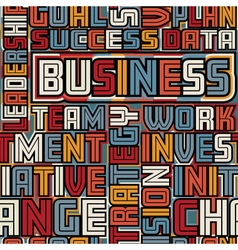 Business words seamless tile vector image vector image