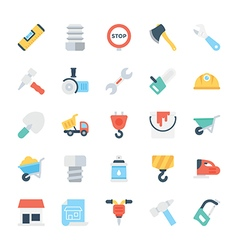 Construction colored icons 2 vector