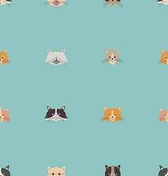 Cute seamless pattern with cats vector image