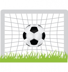 football goal vector image vector image