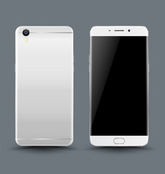 front and back smartphone mockup vector image vector image