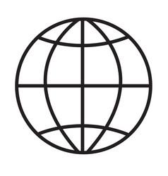 globe icon on white background globe sign flat vector image