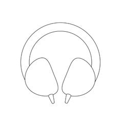 Headphones path vector image