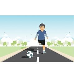 Kids kick vector image vector image
