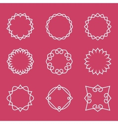 Outline badges and emblems frames vector image vector image