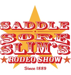 Saddle sore rodeo show vector image vector image