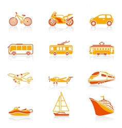 transportation icons | juicy vector image vector image