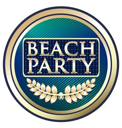 Beach Party Blue Label vector image