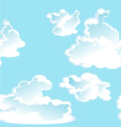 Blue seamless pattern of clouds vector image