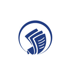 Document paper round logo vector