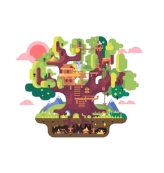 Fairy tree house vector image vector image