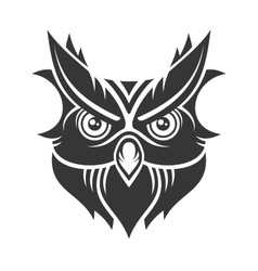 Owl Hipster Simple Style Logo on White Background vector image vector image