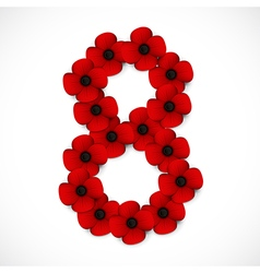 poppies number eight vector image