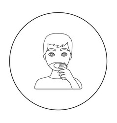 shaving icon in outline style isolated on white vector image vector image