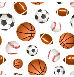 Sport balls for soccer basketball baseball and vector image vector image