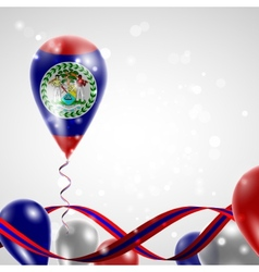 Flag of belize on balloon vector