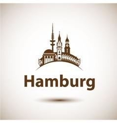 Hamburg Skyline abstract vector image vector image