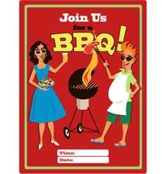 Join us for a BBQ vector image vector image