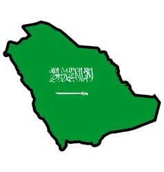 Map in colors of Saudi Arabia vector image
