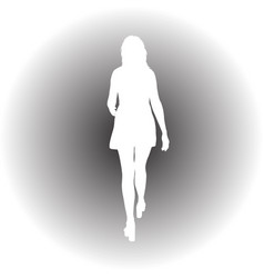 black silhouette of a beautiful girl on a white vector image vector image