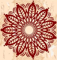 Mandala Round Ornament vector image vector image