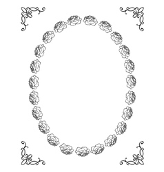 silhouette of floral frame vector image