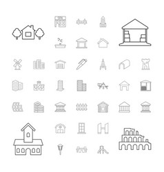 37 architecture icons vector