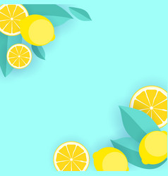 Abstract lemon pattern background vector