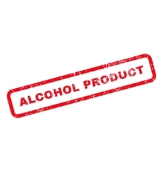 Alcohol Product Text Rubber Stamp vector image