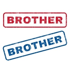 Brother rubber stamps vector