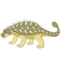 Cartoon happy ankylosaurus vector