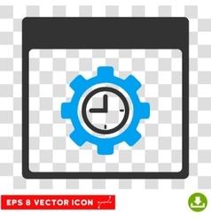 Clock Configuration Gear Calendar Page Eps vector
