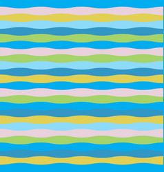 colorful wave seamless pattern for summer theme vector image