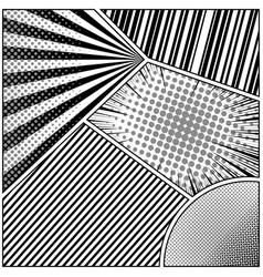 Comic book page monochrome design background vector