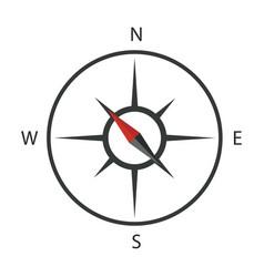 compass icon logo template vector image