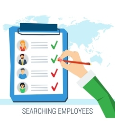 concept employee search vector image
