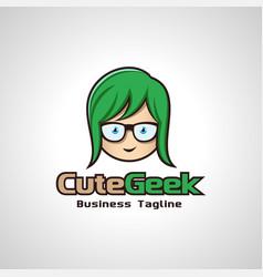 cute geek image vector image