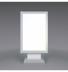 Digital Signage Blank advertising billboard on vector