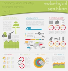 Economy and industry Woodworking and paper vector